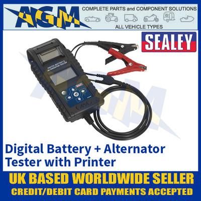 Sealey BT2015 Professional Digital Battery & Alternator Tester with Printer
