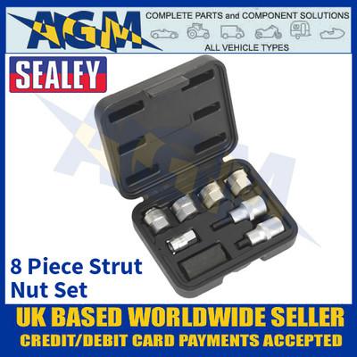 Sealey SX0331 Strut Nut Set, 8 Piece Set, Remove & Install of McPherson Struts