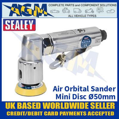 Sealey SA70 Air Orbital Sander Mini Disc Ø50mm - Air Tools - Air Sander