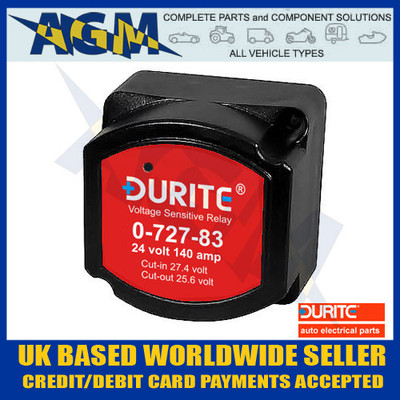Durite 0-727-83 Relay, 24V 140A Split Charge Intelligent Relay