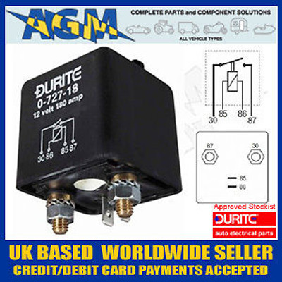 Durite  0-727-18 12V 120A Heavy Duty Make/Break Relay
