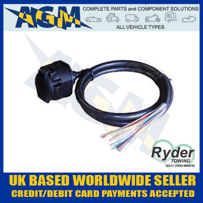13, pin, pre-wired, towing, socket, combined, 12n, 12s