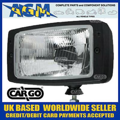 Cargo 170865 Rectangular Halogen Headlamp Unit without Sidelamp Function