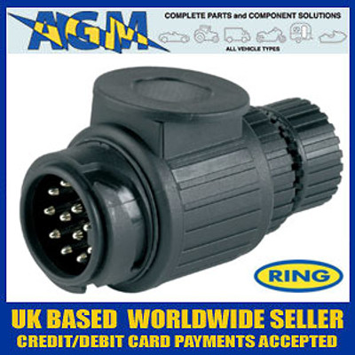 Ring A0033 13 Pin Plastic European Type Towing Plug