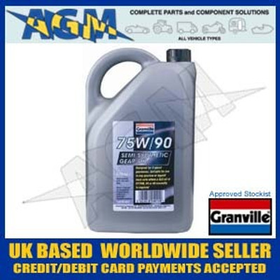 Granville 0012 Semi Synthetic GL5 Gear Box Oil 75W/90 5 Ltr
