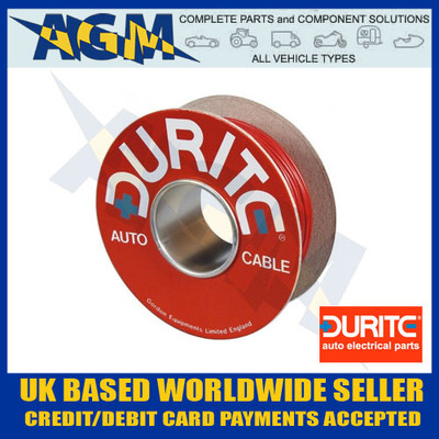 DURITE 0-942-05 RED Single Core Cable (50M Roll)