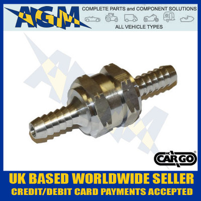 Cargo 080785 Universal One Way/Non Return Valve 8MM - Fuel: Diesel, Petrol, Bio