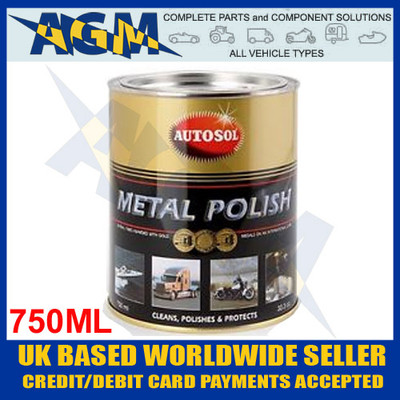 AUTOSOL 0402 (Solvol) Metal Polish - Large Tin - 750ml
