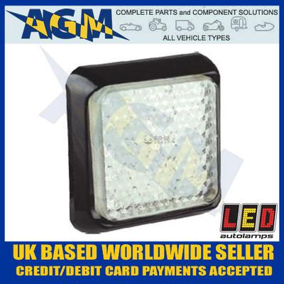 LED Autolamps White Reverse Light/Lamp 100mm Square 80WME Reversing 80WM