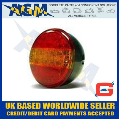 Circular LED Truck & Trailer Hamburger Style Rear Lamp 12V/24V 3 Function