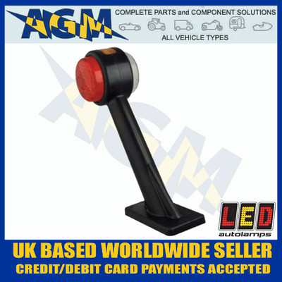 LED Autolamps 1005RE RIGHT End Outline Marker Lamp on Stalk Red White Amber 12/24V