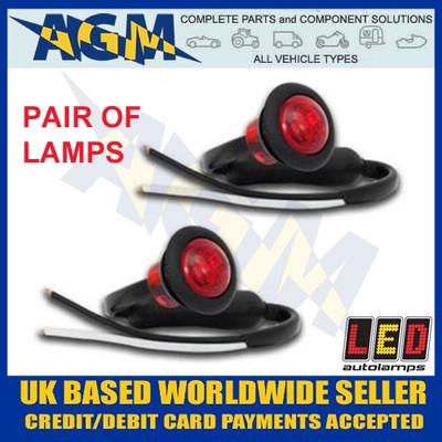 led, 181rme, trailer, round, front, marker, light, lamp, white, 12v, 24v