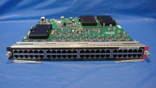 Cisco WS-X6148E-GE-45AT 48-Port 10/100/1000 RJ-45 802.3af PoE and 802.3at PoE+