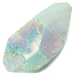 Angel Aura Quartz is a peaceful and tranquil stone with a fine vibration - Free info on meanings and how to use with purchase - Free shipping over $60.
