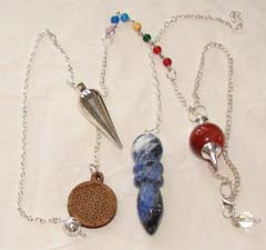 Extensive selection of dowsing pendulums for sale - Instructions on using a pendulum are included with purchase - Free shipping over $60.
