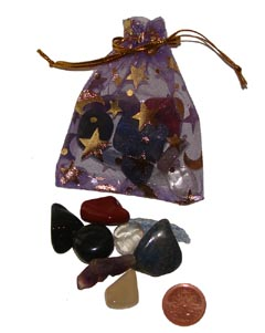 Set of the best stones for stimulating and remembering dreams in an organza pouch – Free info on properties of each stone & how to use with purchase – Free shipping over $60.