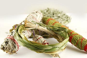 Smudging herbs and accessories – Free pamphlet on how to smudge with purchase – Free shipping over $60.