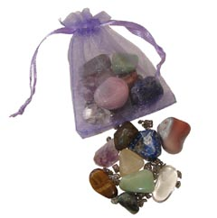 The best crystals for enhancing your intuition and psychic abilities in an organza pouch- Free info on properties & how to use with purchase - Free shipping over $60.