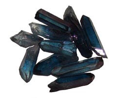 Tanzine Aura Quartz is a powerful crystal to develop psychic abilities - Free info on properties and how to use with purchase - Free shipping over $60.