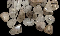 Tourmalinated Quartz helps you to change negative thoughts into positive ones - Free info on properties and how to use with purchase - Free shipping over $60.