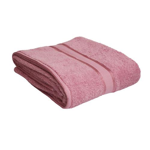 100% Cotton Rose Pink Bath Sheet