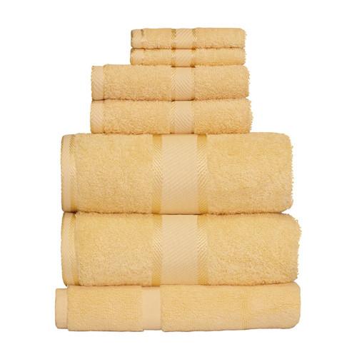 100% Cotton Yellow 7pc Bath Towel Set