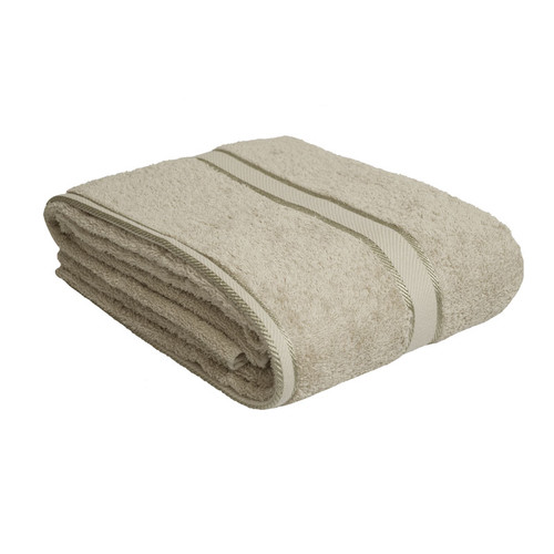 100% Cotton LInen / Latte Coffee Bath Sheet