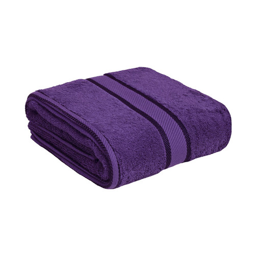 100% Cotton Purple Bath Towel