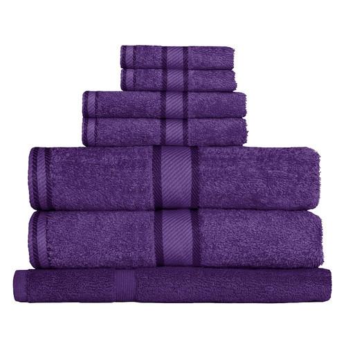 100% Cotton Purple 7pc Bath Towel Set
