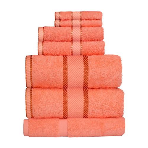 100% Cotton Terracotta / Rust 7pc Bath Sheet Set