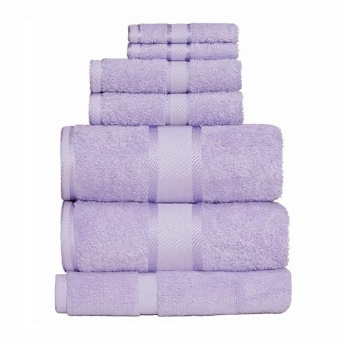 100% Cotton Lilac 7pc Bath Sheet Set