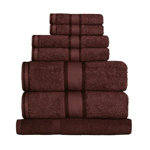 100% Cotton Chocolate Brown 7pc Bath Sheet Set