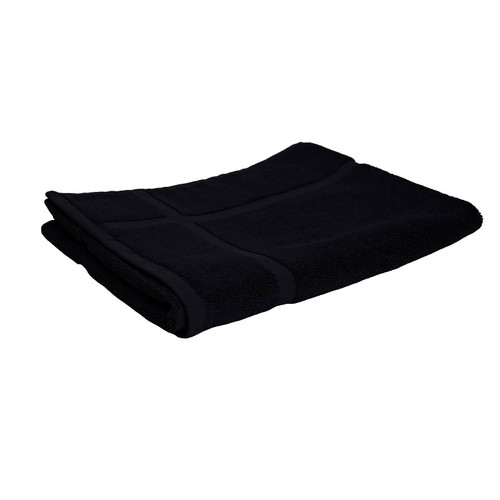 100% Cotton Black Bath Mat