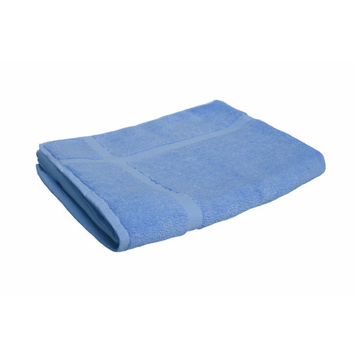 100% Cotton Blue Bath Mat