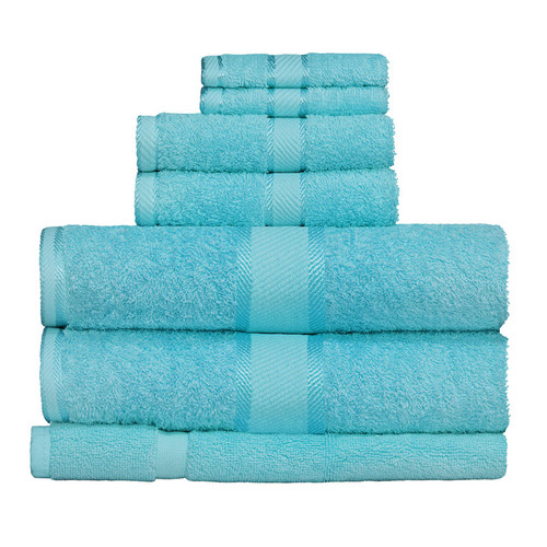 100% Cotton Turquoise 7pc Bath Towel Set