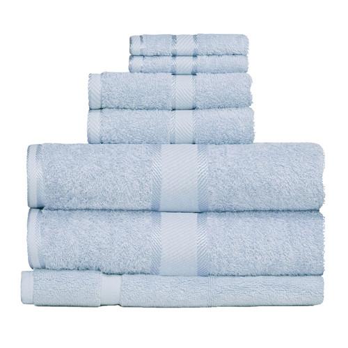 100% Cotton Baby Blue 7pc Bath Towel Set