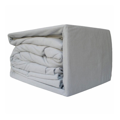 Silver Flannelette Sheet Set