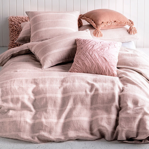 KAS Balmoral Blush Double Bed Quilt Cover Set   My Linen