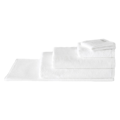 Sheridan 100% Combed Cotton Twist Towel Collection 7pc Bath Towel Set White   My Linen