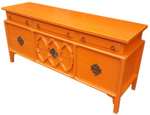 Modernist Dresser in Coral Orange