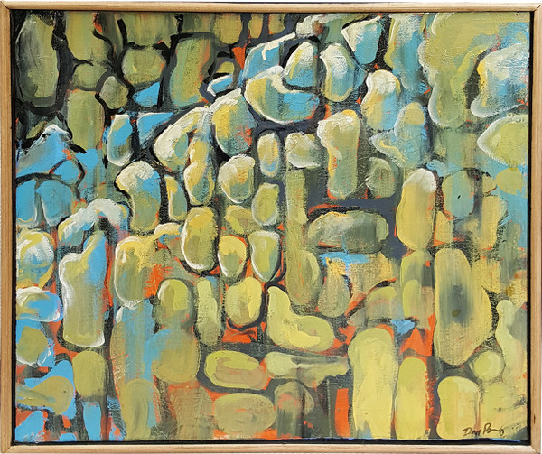 Pebbles - abstract arylic on canvas