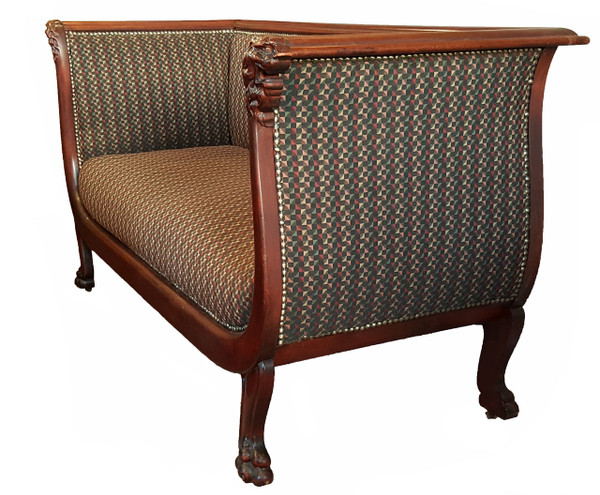 Antique Sofa with Modern Upholstery