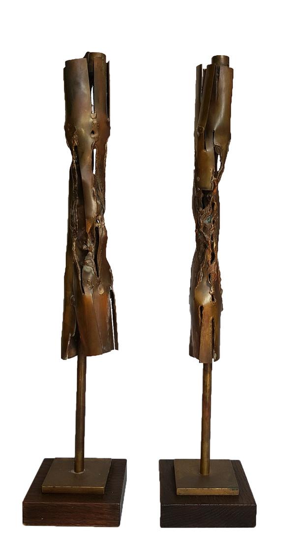 Brutalist Candlesticks by Robert Stanton