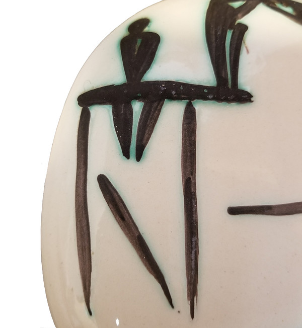 Ceramic Plate by Picasso Diver detail