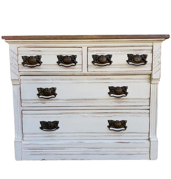 Eastlake Marble Top Dresser Front