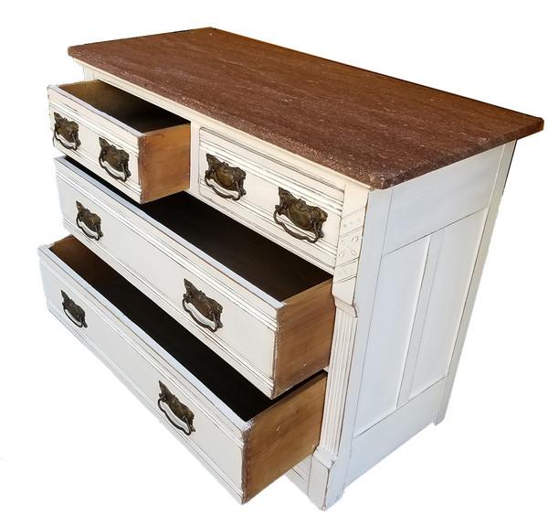 Eastlake Marble Top Dresser open