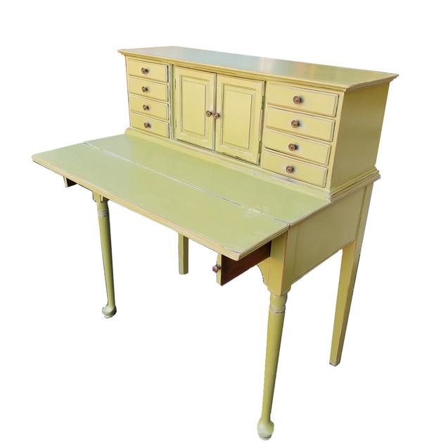 Olive Green Secretary Shelf extended