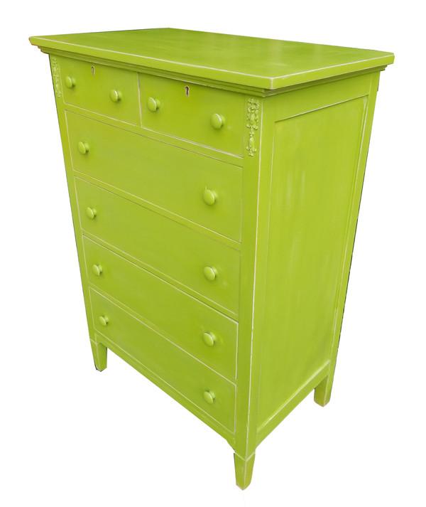 Antique Dresser in Vibrant Apple Green - Antique Dresser In Vibrant Apple Green - Sonoma Nesting Company