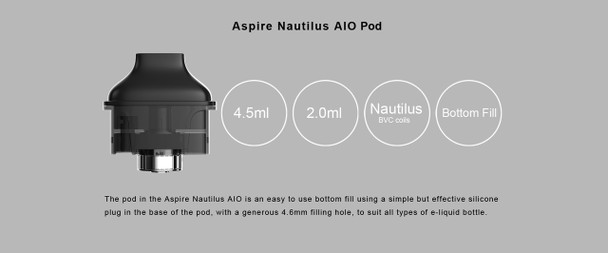 Aspire Nautilus AIO Replacement Pods 4.5ml