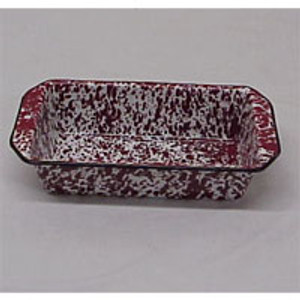 RED MARBLED LOAF PAN